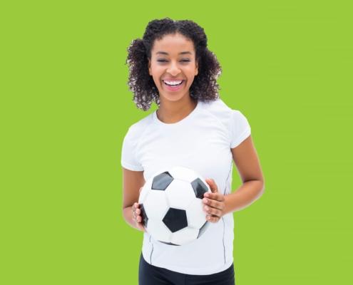 joueuse de football